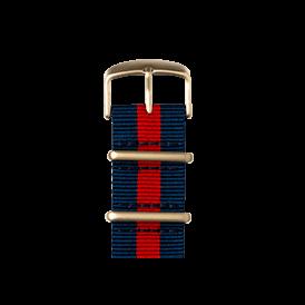 Nato Nylon Armband in Dunkelblau / Rot für die Apple Watch Series 1, 2 & 3 in 38mm & 42mm Gehäusegröße von Roobaya - Made in Germany