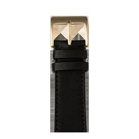Sauvage Leder Armband in Schwarz für die Apple Watch Series 1, 2, 3 & 4 in 38mm, 40mm, 42mm & 44mm Gehäusegröße von Roobaya - Made in Germany