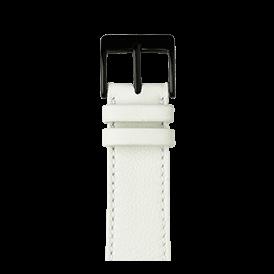Bracelet Apple Watch cuir sauvage blanc | Roobaya