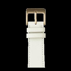 Sauvage Leder Armband in Weiß für die Apple Watch Series 1, 2, 3 & 4 in 38mm, 40mm, 42mm & 44mm Gehäusegröße von Roobaya - Made in Germany