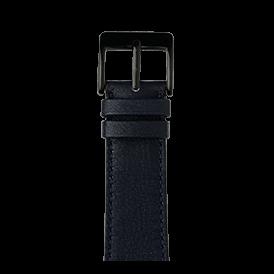 Bracelet Apple Watch cuir sauvage bleu foncé | Roobaya