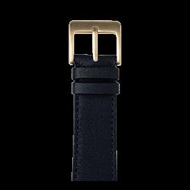Sauvage Leder Armband in Dunkelblau für die Apple Watch Series 1, 2, 3 & 4 in 38mm, 40mm, 42mm & 44mm Gehäusegröße von Roobaya - Made in Germany