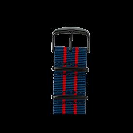 Bracelet Apple Watch nylon Nato bleu foncé/rouge/rouge | Roobaya