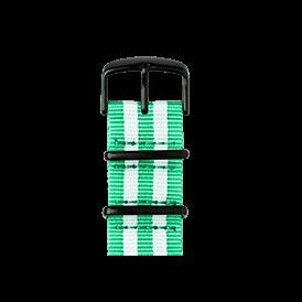 Bracelet Apple Watch nylon Nato vert clair/blanc | Roobaya