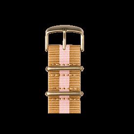 Nato Nylon Armband in Sand / Hellrosa für die Apple Watch Series 1, 2 & 3 in 38mm & 42mm Gehäusegröße von Roobaya - Made in Germany