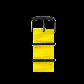 Nato Nylon Armband in Gelb für die Apple Watch Series 1, 2 & 3 in 38mm & 42mm Gehäusegröße von Roobaya - Made in Germany