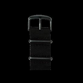 Nato Nylon Armband in Schwarz für die Apple Watch Series 1, 2 & 3 in 38mm & 42mm Gehäusegröße von Roobaya - Made in Germany