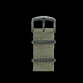 Nato Nylon Armband in Moosgrau für die Apple Watch Series 1, 2 & 3 in 38mm & 42mm Gehäusegröße von Roobaya - Made in Germany