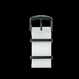 Nato Nylon Armband in Weiß für die Apple Watch Series 1, 2 & 3 in 38mm & 42mm Gehäusegröße von Roobaya - Made in Germany