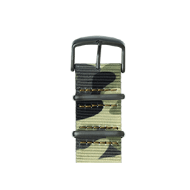Nato Nylon Armband in Camouflage für die Apple Watch Series 1, 2 & 3 in 38mm & 42mm Gehäusegröße von Roobaya - Made in Germany