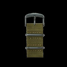 Nato Nylon Armband in Olivgrün für die Apple Watch Series 1, 2 & 3 in 38mm & 42mm Gehäusegröße von Roobaya - Made in Germany