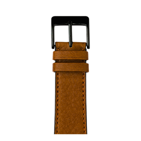 Apple Watch band sauvage leather cognac | Roobaya