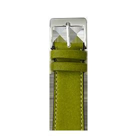 Premium Apple Watch Lederarmband Sauvage Moosgrün - kaufen | Roobaya