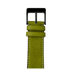 Cinturino Apple Watch in pelle sauvage color verde muschio | Roobaya