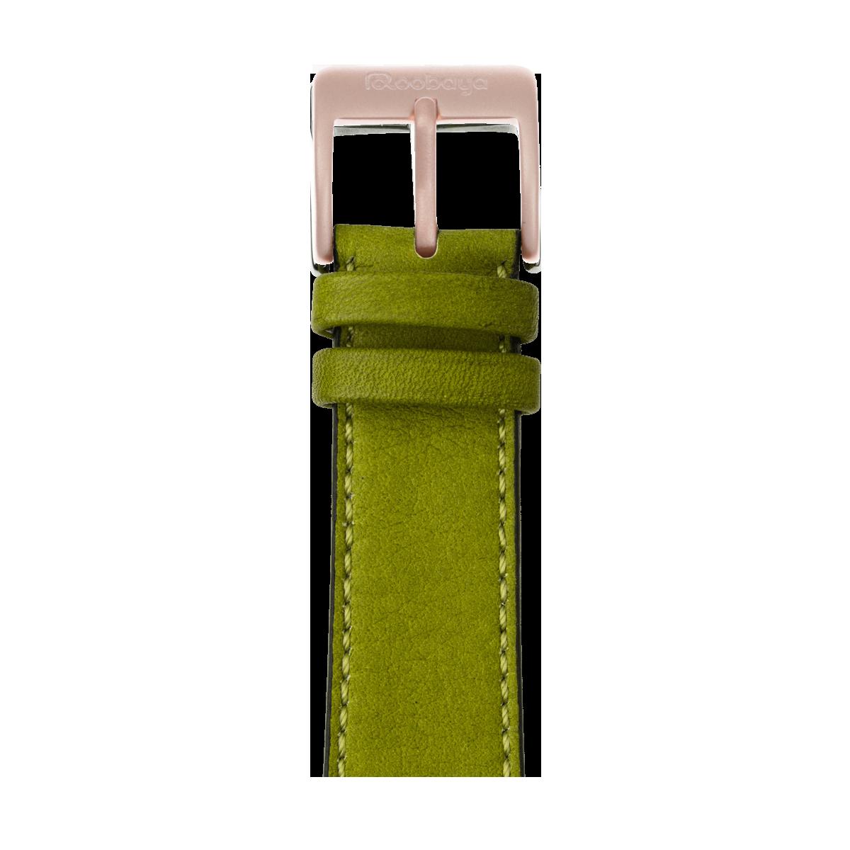 Correa para Apple Watch de piel sauvage en verde musgo | Roobaya
