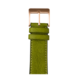 Apple Watch Lederarmband Sauvage Moosgrün | Roobaya