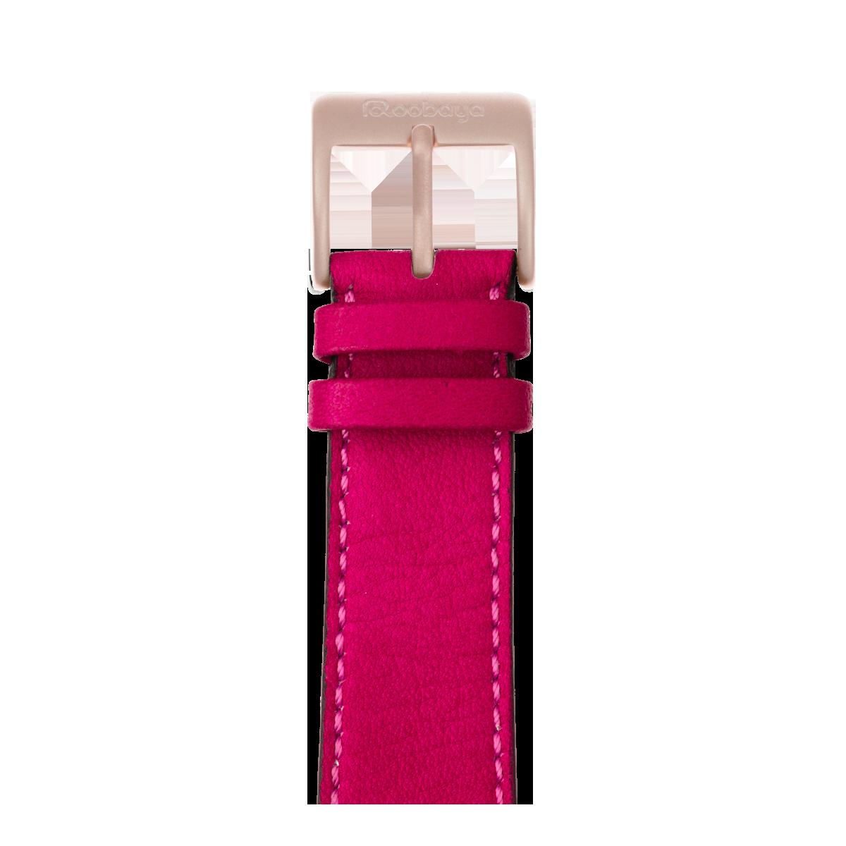 Correa para Apple Watch de piel sauvage en rosa | Roobaya