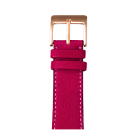 Apple Watch band sauvage leather pink | Roobaya