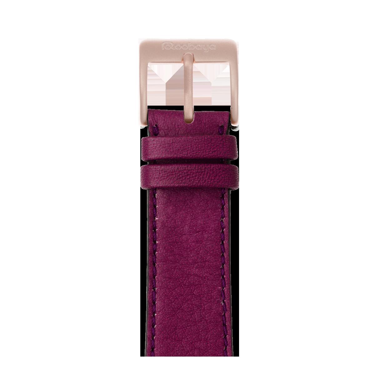 Correa para Apple Watch de piel sauvage en violeta | Roobaya
