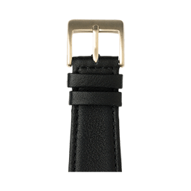 Bracelet Apple Watch cuir nappa noir | Roobaya