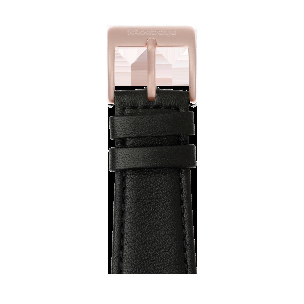 Correa para Apple Watch de piel napa en negro | Roobaya