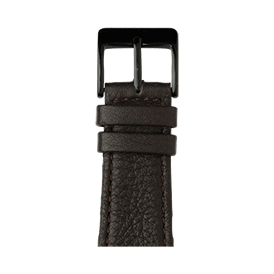 Cinturino Apple Watch in pelle nappa marrone scuro | Roobaya