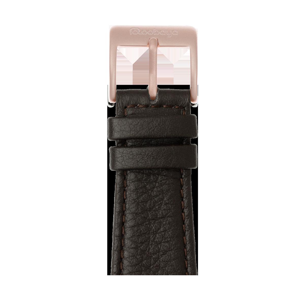 Correa para Apple Watch de piel napa en marrón oscuro | Roobaya
