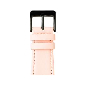 Bracelet Apple Watch cuir nappa rose clair | Roobaya