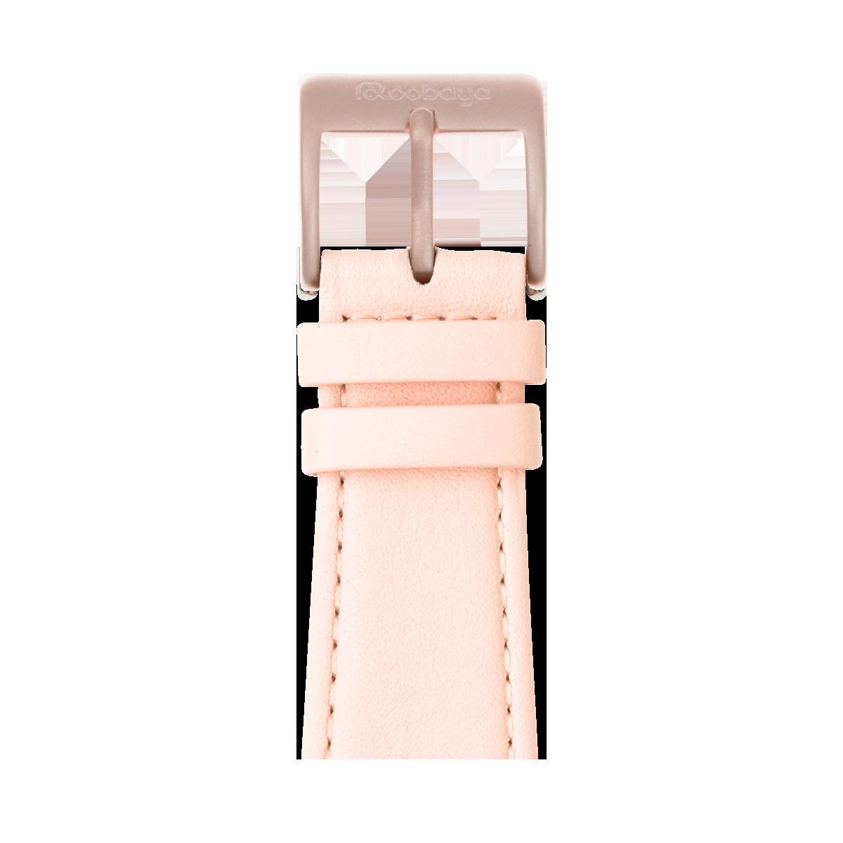 Correa para Apple Watch de piel napa en rosa claro | Roobaya
