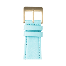 Bracelet Apple Watch cuir nappa bleu clair | Roobaya