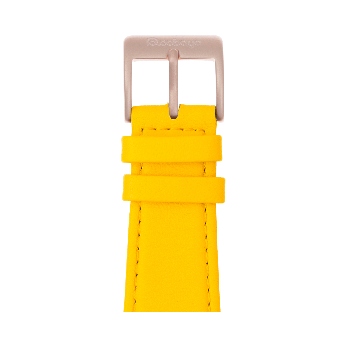Correa para Apple Watch de piel napa en amarillo | Roobaya