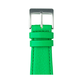 Bracelet Apple Watch cuir nappa vert | Roobaya