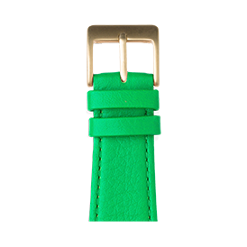 Cinturino Apple Watch in pelle nappa verde | Roobaya