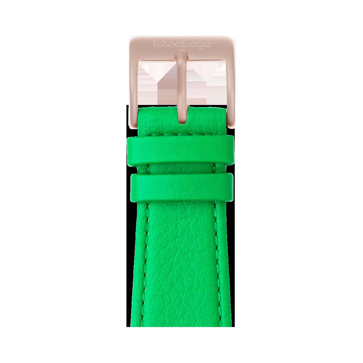 Correa para Apple Watch de piel napa en verde | Roobaya