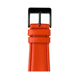 Bracelet Apple Watch cuir nappa rouge | Roobaya