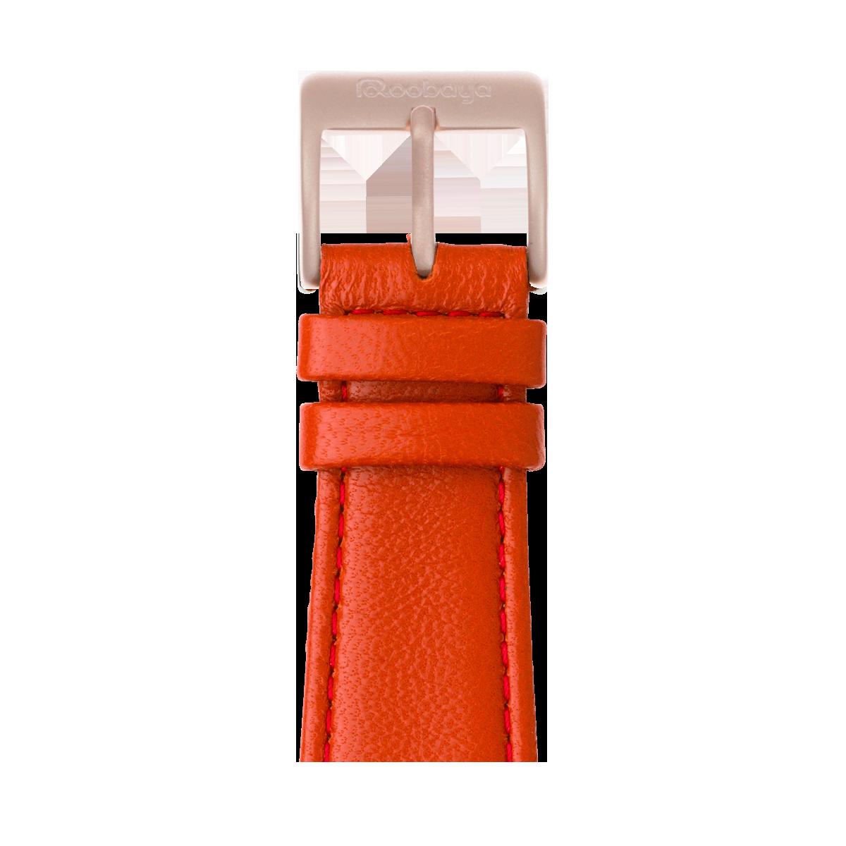 Correa para Apple Watch de piel napa en rojo | Roobaya