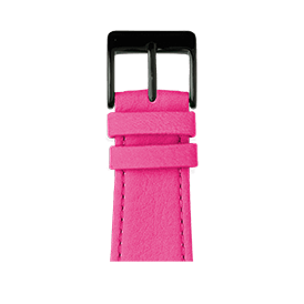 Correa para Apple Watch de piel napa en rosa | Roobaya