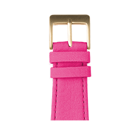 Bracelet Apple Watch cuir nappa rose | Roobaya