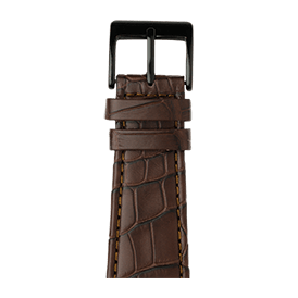 Apple Watch band alligator leather dark brown | Roobaya