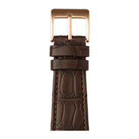 Premium Apple Watch Lederarmband Alligator Dunkelbraun - kaufen | Roobaya