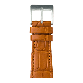 Bracelet Apple Watch cuir alligator cognac | Roobaya