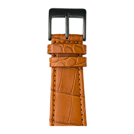 Premium Apple Watch Lederarmband Alligator Cognac - kaufen | Roobaya