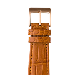Apple Watch band alligator cognac | Roobaya