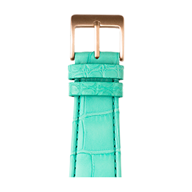 Apple Watch band alligator leather Turquoise | Roobaya