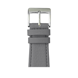 Correa para Apple Watch de piel napa en gris | Roobaya