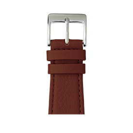 Bracelet Apple Watch cuir nappa marron moyen | Roobaya