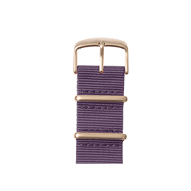 Bracelet Apple Watch nylon Nato lilas | Roobaya