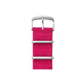 Correa para Apple Watch de nailon NATO en rosa | Roobaya