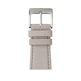 Bracelet Apple Watch cuir nappa gris clair | Roobaya