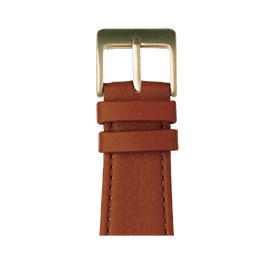 Bracelet Apple Watch cuir nappa cognac | Roobaya